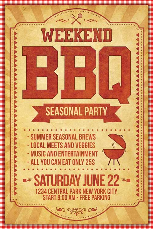 BBQ Flyer Template