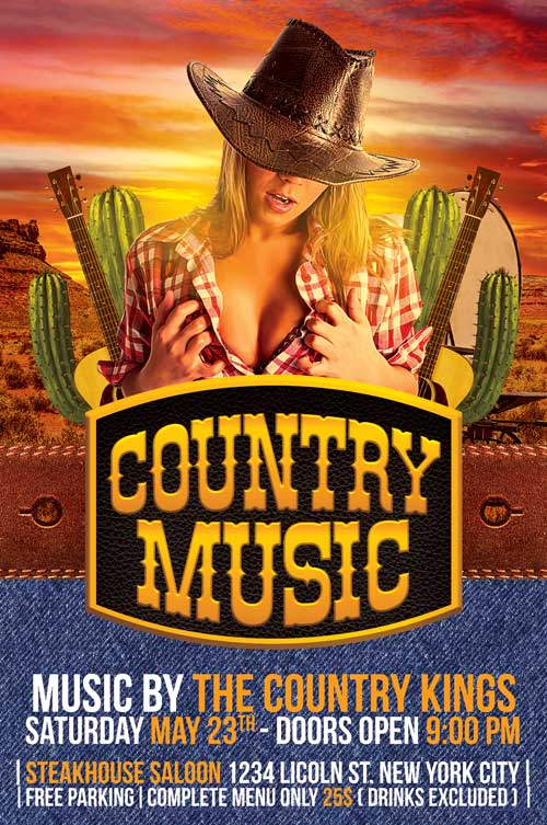 Country Flyer Template PSD