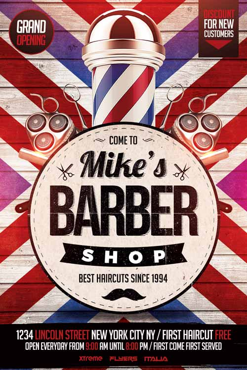 Barbershop Flyer Template PSD