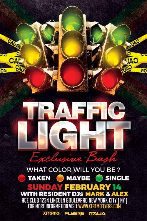Traffic Light Flyer Template