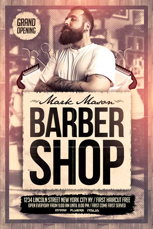FREE Barber Shop Flyer Template - XtremeFlyers