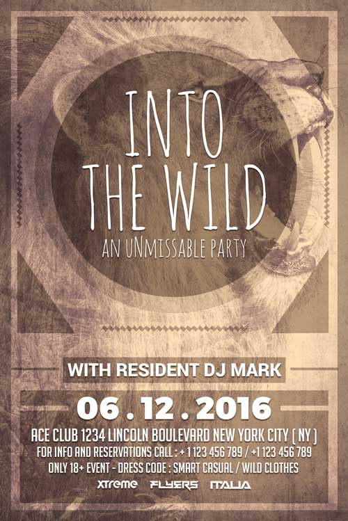 FREE Wild Party Flyer Template