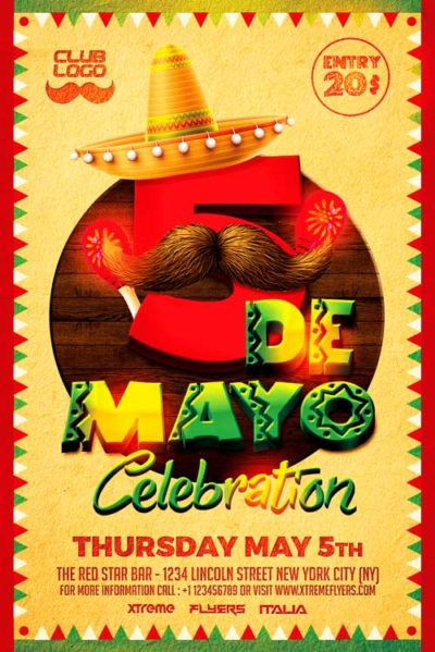 5 De Mayo Flyer Template