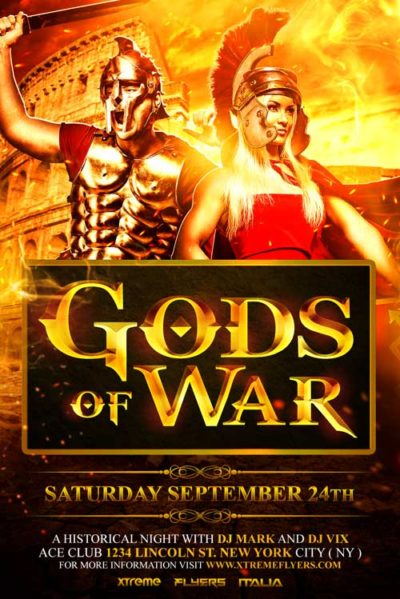 Gods of War Flyer Template