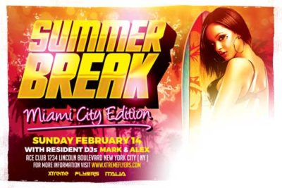 Miami Beach Party Flyer Template