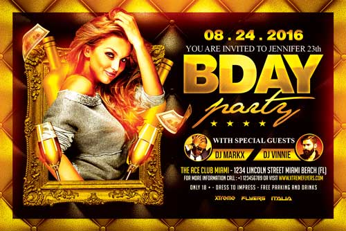 Bday Party Flyer Template