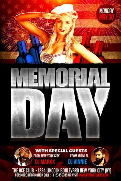 Memorial Day Flyer PSD