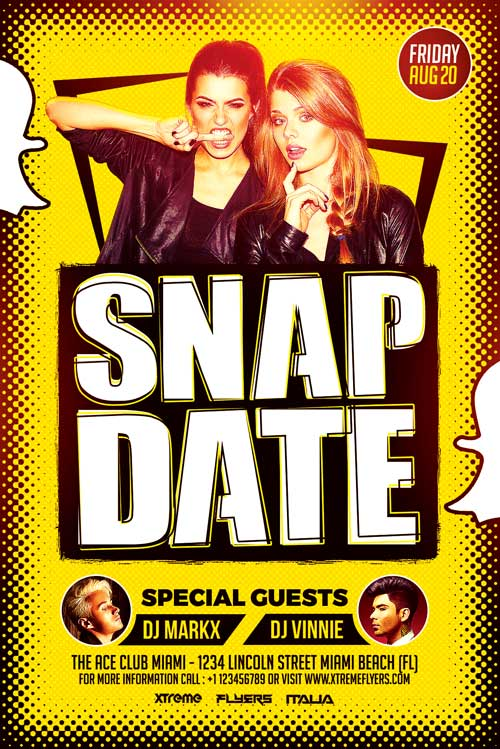 SnapChat Flyer Template