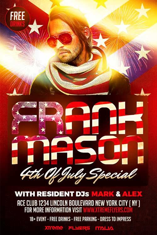 4th of July DJ Flyer