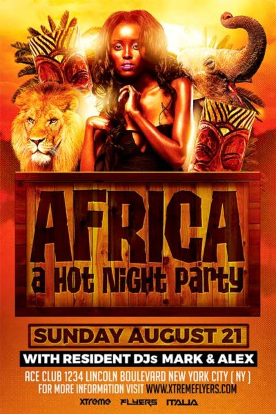 African Party Flyer Template
