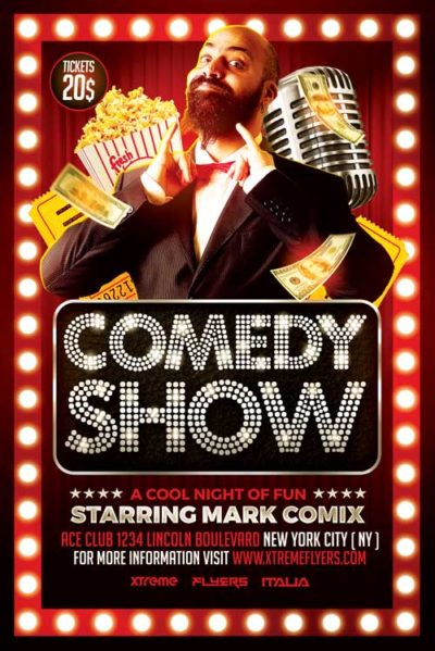 Comedy Show Flyer Template