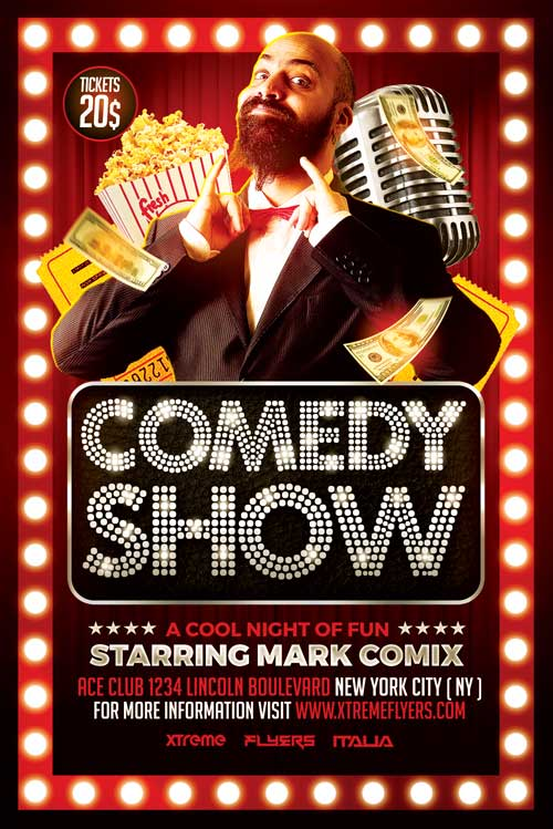 Comedy Show Flyer Template XtremeFlyers – Comedy Show Flyer Template