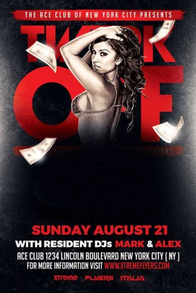 FREE Twerk Off Flyer Template