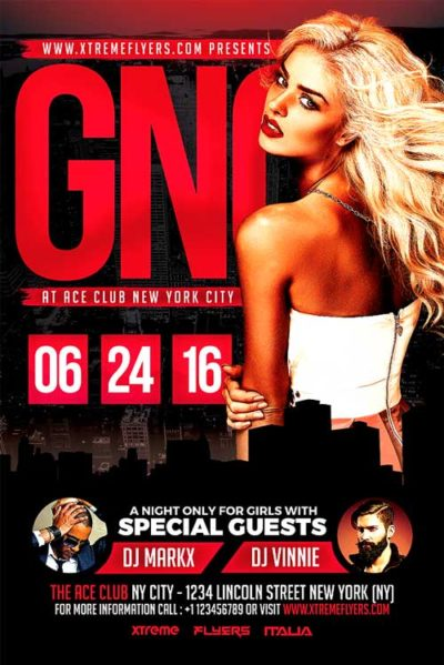 Girls Night Flyer Template