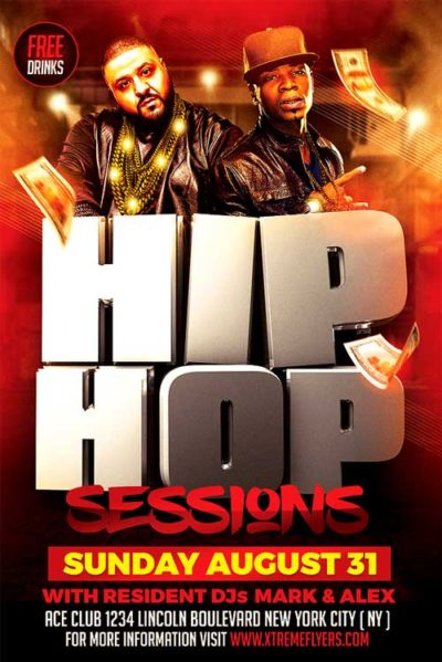 Hip Hop Sessions Flyer Template