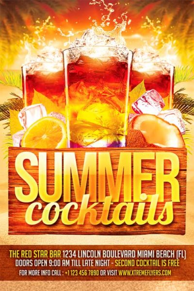 Summer Cocktails Flyer Template