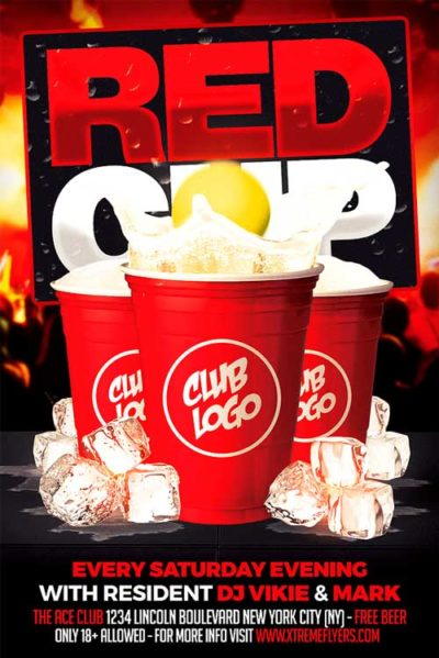 Red Cup Party Flyer Template