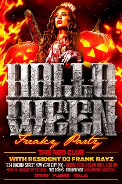 Halloween Night Party Flyer Template