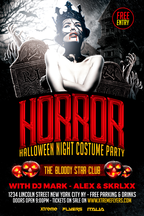 Horror Halloween Flyer Template