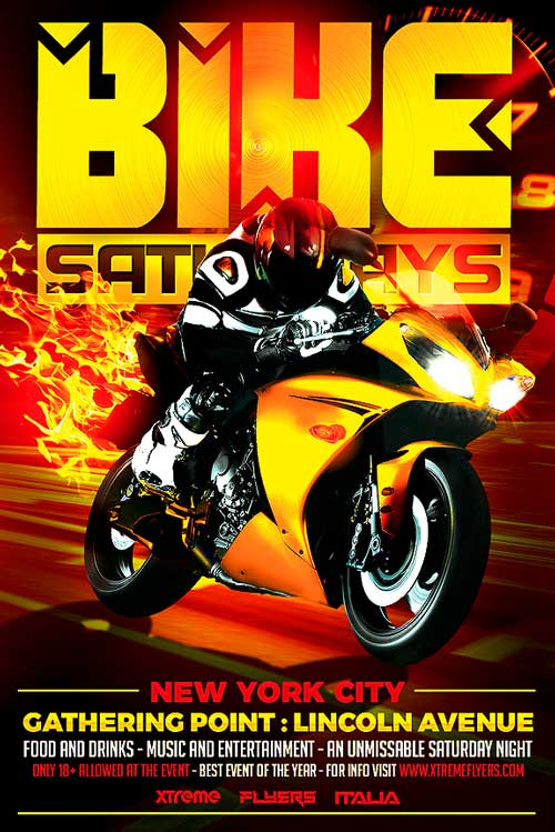 Bike Night Flyer Template