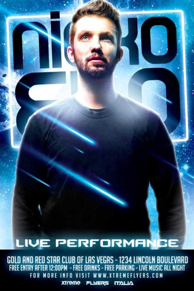 FREE Futuristic DJ Flyer Template