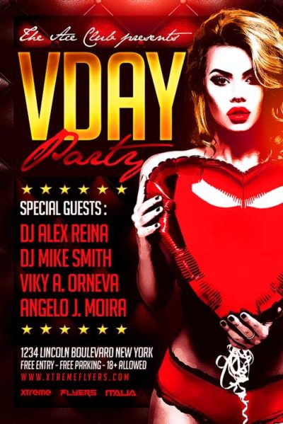 Vday Bash Flyer Template