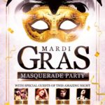 Carnival Masquerade Party Flyer Template PSD