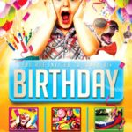 Kids Birthday Party Flyer Template PSD