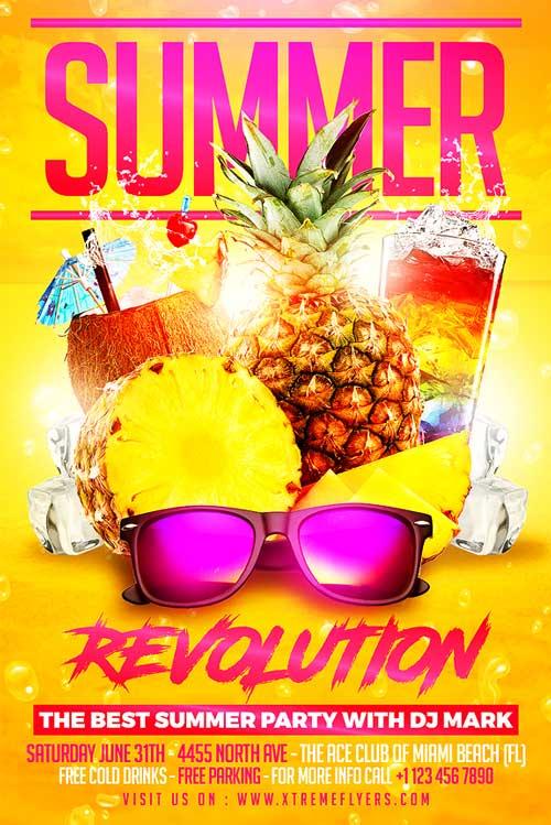 Summer 2017 Flyer Template PSD